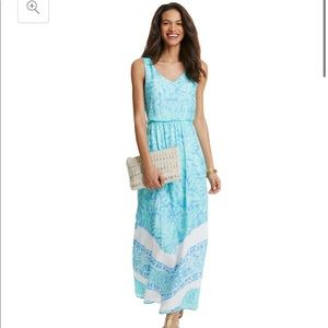 Vineyard vines silk maxi dress